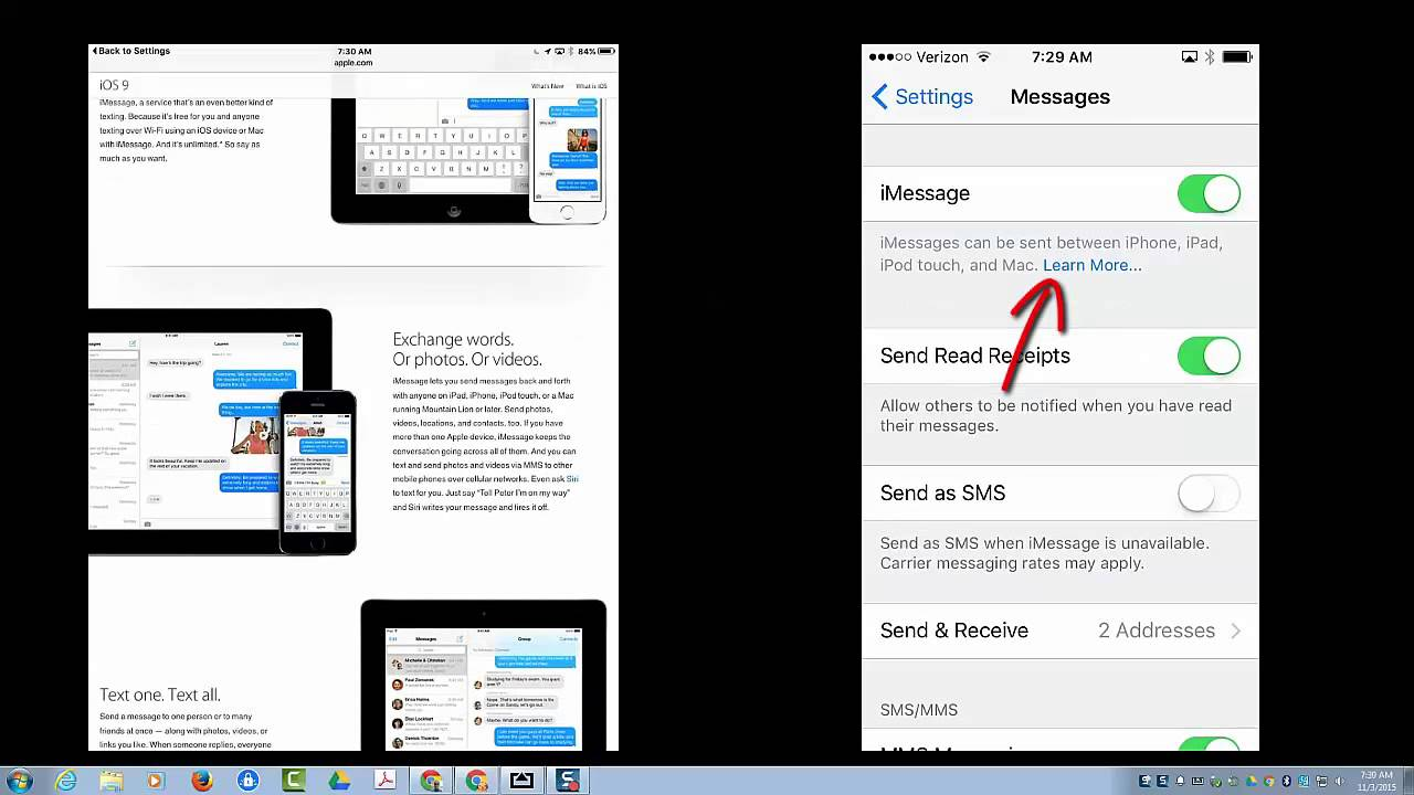 How to unlink messages on iphone and ipad