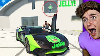 I Stole Jelly's CUSTOM LAMBORGHINI In GTA 5..