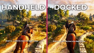 The Switcher 3 – Switch Docked vs. Handheld Frame Rate Test Graphics Comparison Witcher 3