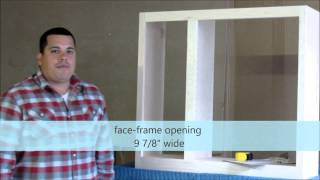 How To Measure For A Face Frame Single Cabinet Door