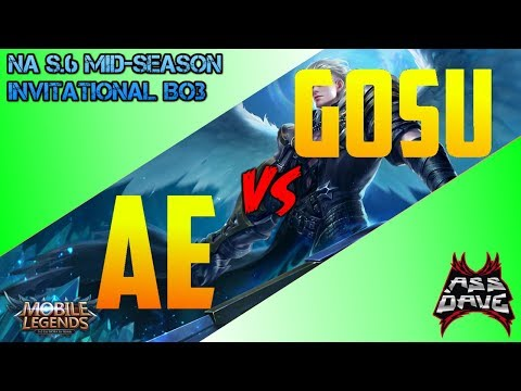 AE vs GOSU!  FIGHT OF THE CENTURY! MOBILE LEGENDS!