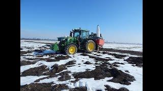 Wiosna 2018   John Deere 6130R JD6330P & JD5720 Nawóz, siew jęczmienia, RSM *Podkarpacie*