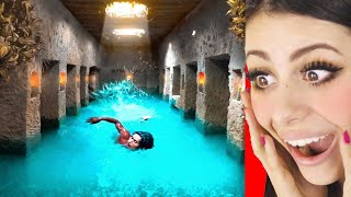 Kids Build MOST SECRET Underground Temple and Swimming Pool