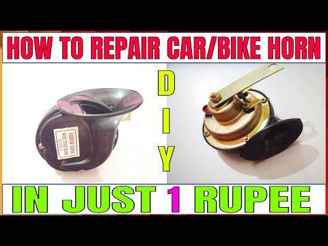 How to repair car/bike horn at home in 1 just Rupee_DIY Tutorial