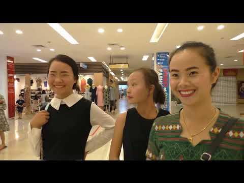 Hluas Nkauj Hmoob Toj Siab Ncig Vientiane Center