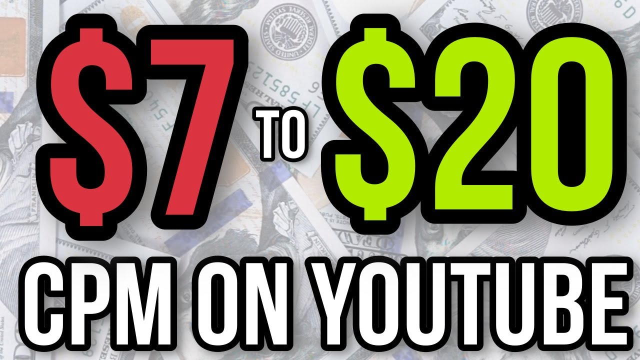HOW I INCREASED MY CPM FROM $7 to $20 on YOUTUBE💰BEST YOUTUBE NICHES