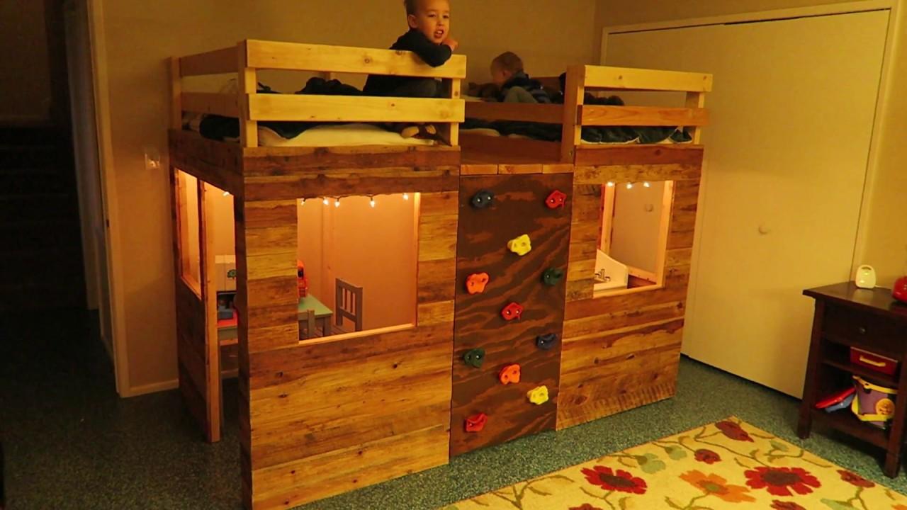 Climbing Wall Kids Loft Bed Novocom Top