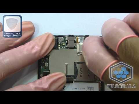 Como Desmontar o Sony Xperia L C2104 - TELECELULA