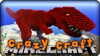 Minecraft Mods - CRAZY CRAFT - Ep # 26 BIG BOSS T-REX!!