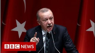 President Erdogan threatened to send the refugees to Europe - BBC News