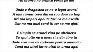Alina Eremia - Vorbe pe dos Versuri (Lyrics)