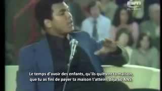 Muhammad Ali en train de faire Dawa (Rappel sur le but de la vie)