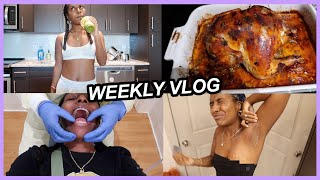 Cook With Me   Seasoned Whole Chicken, Braces Update, Waxing My Armpits!