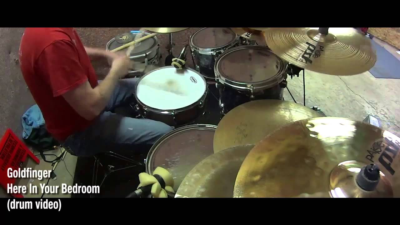 Goldfinger   Here In Your Bedroom (drum Video)
