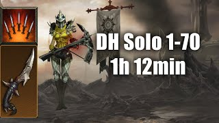 Solo DH Leveling 1-70 in ~1h 12min (Oneshotting T6 with Fan of Knives)