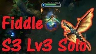 英雄聯盟 Lv.3 費德提克稻草人 單吃小龍   Fiddlesticks Dragon Solo