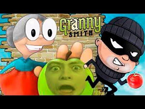 ДОГОНИ МАЛЬЧИКА Бабушка в погоне за ЯБЛОКОМ #2 веселая игра смеёмся над забавной Granny Smith
