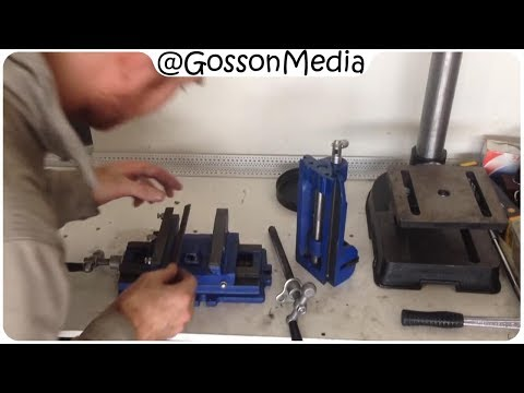Cross-Slide Vice hack - modifying a cheap Ebay / Trade Tools Direct / Hafco milling table