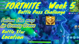 Fortnite Follow the Map in Greasy Grove Week 5 Battle Pass Challenge Location