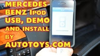 Mercedes Benz S500 IPOD USB Aux by Dension and Autotoys com GW51MO2, M O S T W221