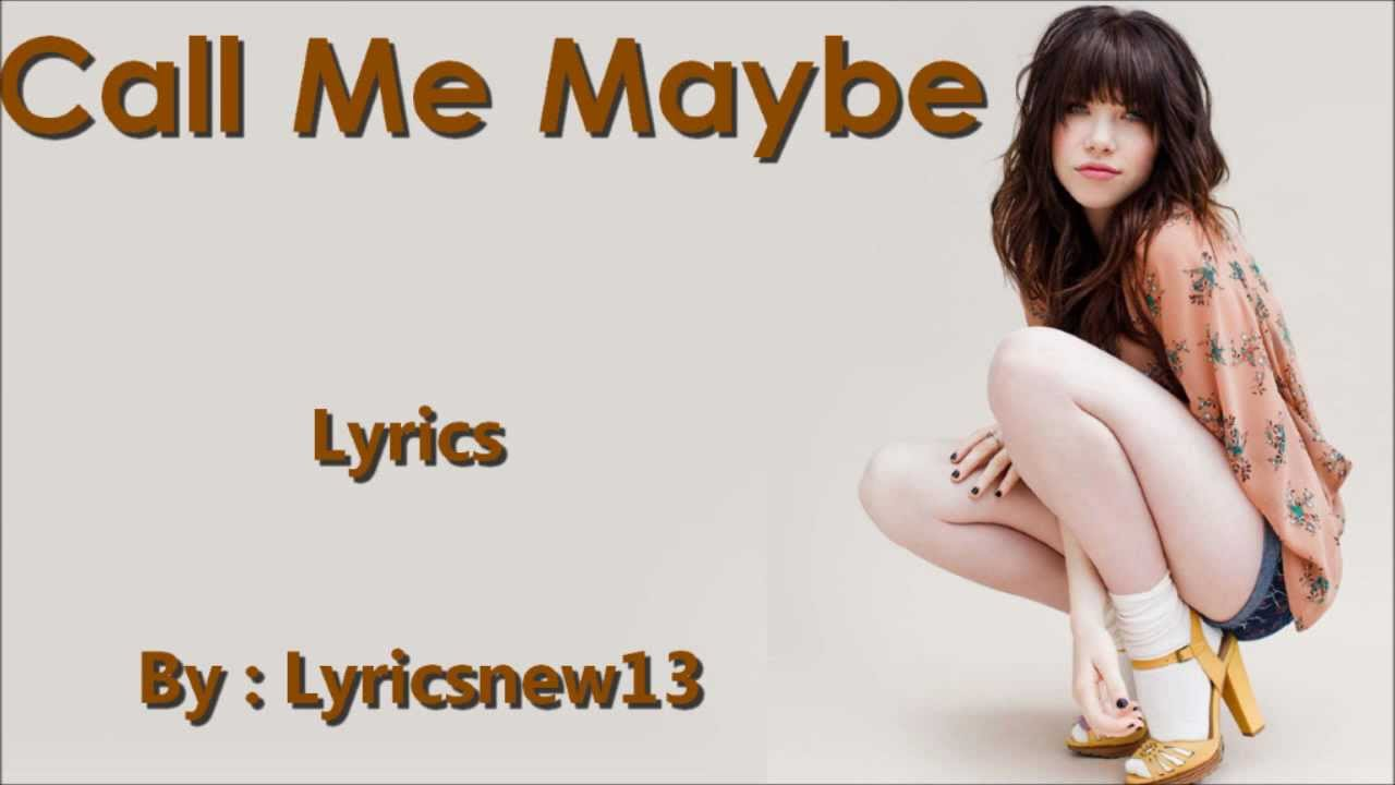 Call Me Maybe /\ Lyrics On A Screen