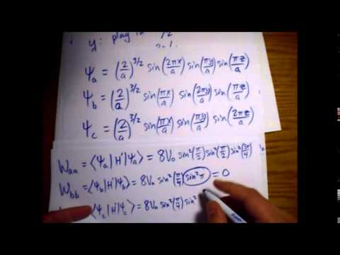 Griffiths Quantum Mechanics Problem 6.8: Degenerate Perturbation Theory - Delta in 3D Infinite Well