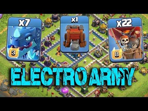 7 Max Electro Dragon 22 Max Balloon Siege Machine New Electro  Army 3 Star  Attack TH12 Max
