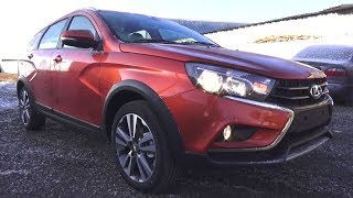 2017 Lada Vesta SW Cross 1.8. Start Up, Engine, and In Depth Tour.
