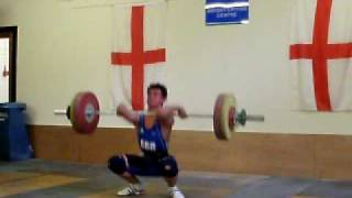 Sonny Webster Clean and Jerk 112 Kg @ Britains most powerful youth 2009