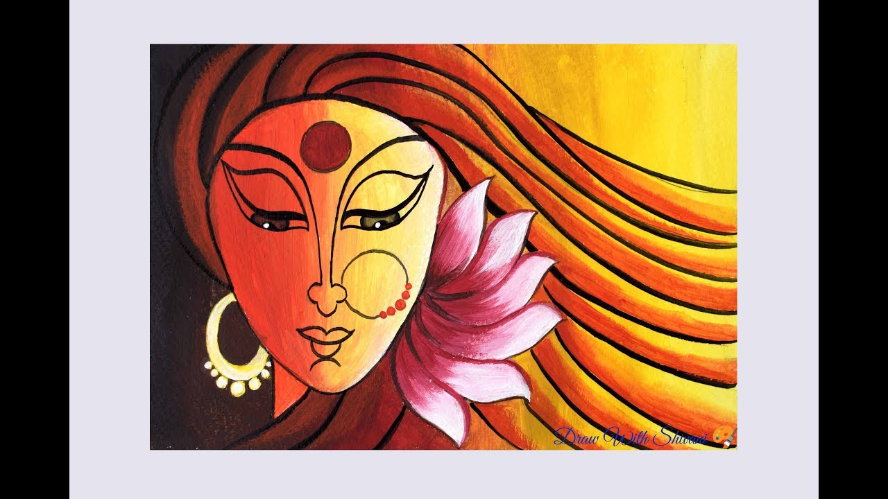 Abstract Painting Of Goddess Acrylic Color Painting Ideas Youtube