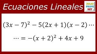 ECUACIONES LINEALES - Ejercicio 12