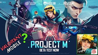 Valorant Mobile? Project M Gameplay Beta Test - YouTube
