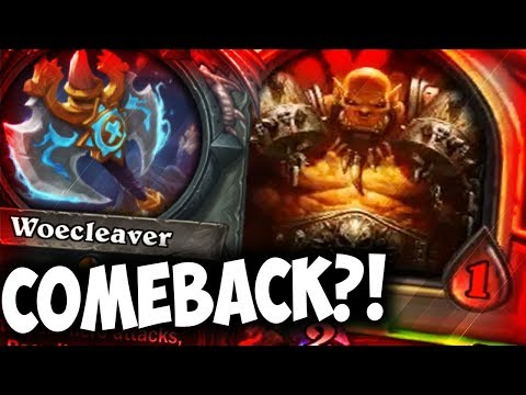 RECRUIT WARRIOR 1 HEALTH COMEBACK?! | WOECLEAVER | THE WITCHWOOD | HEARTHSTONE | DISGUISED TOAST