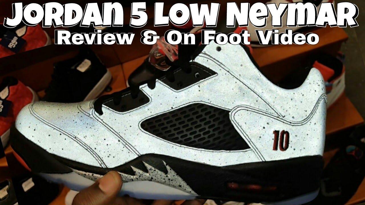 5d65b3811b1 Jordan 5 Low Neymar | Review | On Foot | - YouTube
