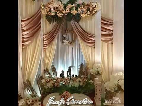 dekorasi acara tunangan, akad nikah - youtube