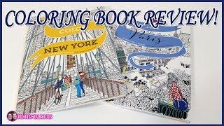 Adult Coloring Book Review - Color New York & Color Paris