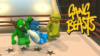 FIGHTING IN THE RING - GANG BEASTS ONLINE MULTIPLAYER