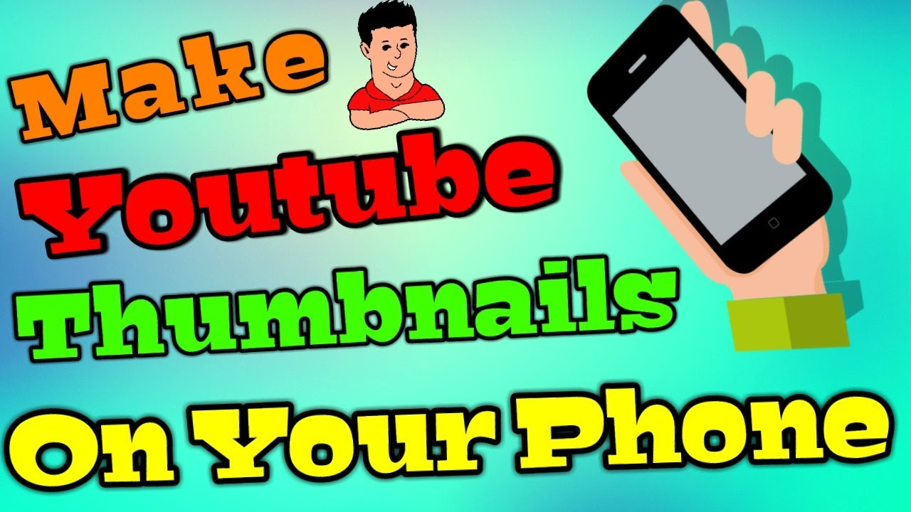 How to make a youtube thumbnail on your iphone