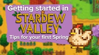 Getting started in Stardew Valley - tips for your first Spring