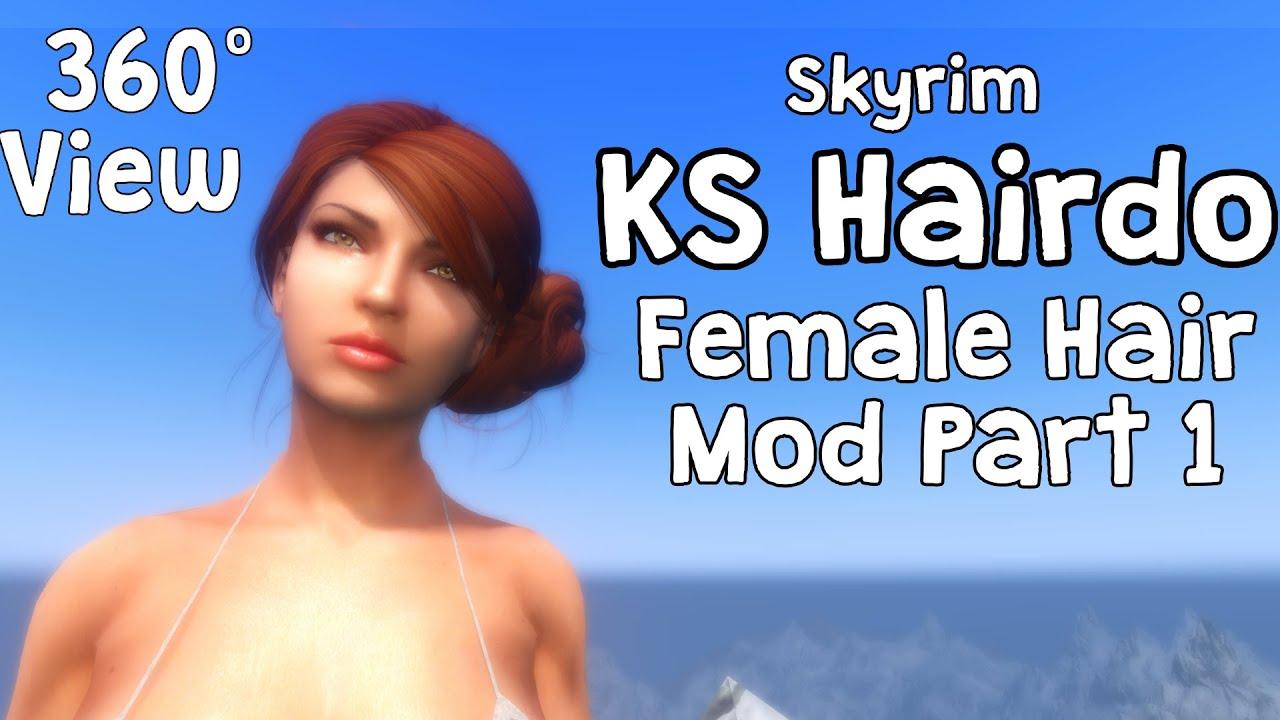 360* View - Skyrim KS Hairdo 265 Female Hair Mod Part 1 - Full REFERENCE  GUIDE!