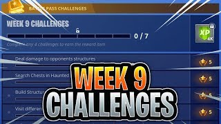 Fortnite Week 9 Challenges LEAKED! WEEK 9 ALL CHALLENGES EASY GUIDE Season 4 Battle Pass Week 9