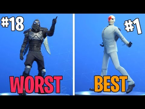 Fortnite All *EPIC* Emotes Ranked From WORST to BEST! (Vivacious , Intensity , Dance Therapy)