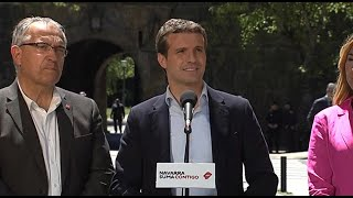 """Casado dice que la """"suma funciona"""" como muestra la coalición navarra"""