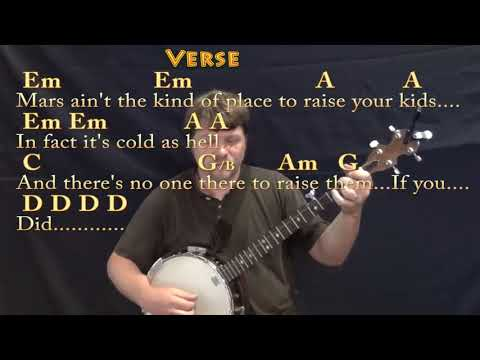Rocket Man Elton John Banjo Cover Lesson In Em With Chordslyrics