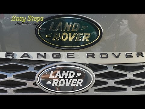 How to Replace Green Land Rover Badge on Front Grill with Black Badge Emblem | Grille Emblems
