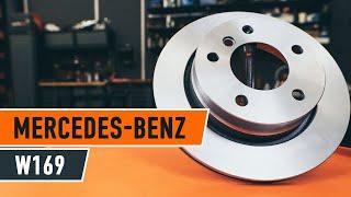 Kaip pakeisti galiniai stabdžių diskai ir stabdžių kaladėlės MERCEDES-BENZ A W169 PAMOKA | AUTODOC