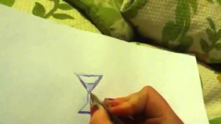 How to draw a kawaii hourglass