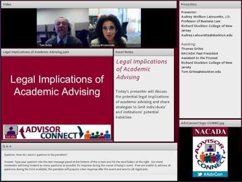 Legal Implications of Academic Advising