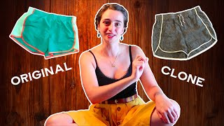 Summer Sewing Tutorial: Cloning my sports shorts, but with natural fibers. (historybounding)