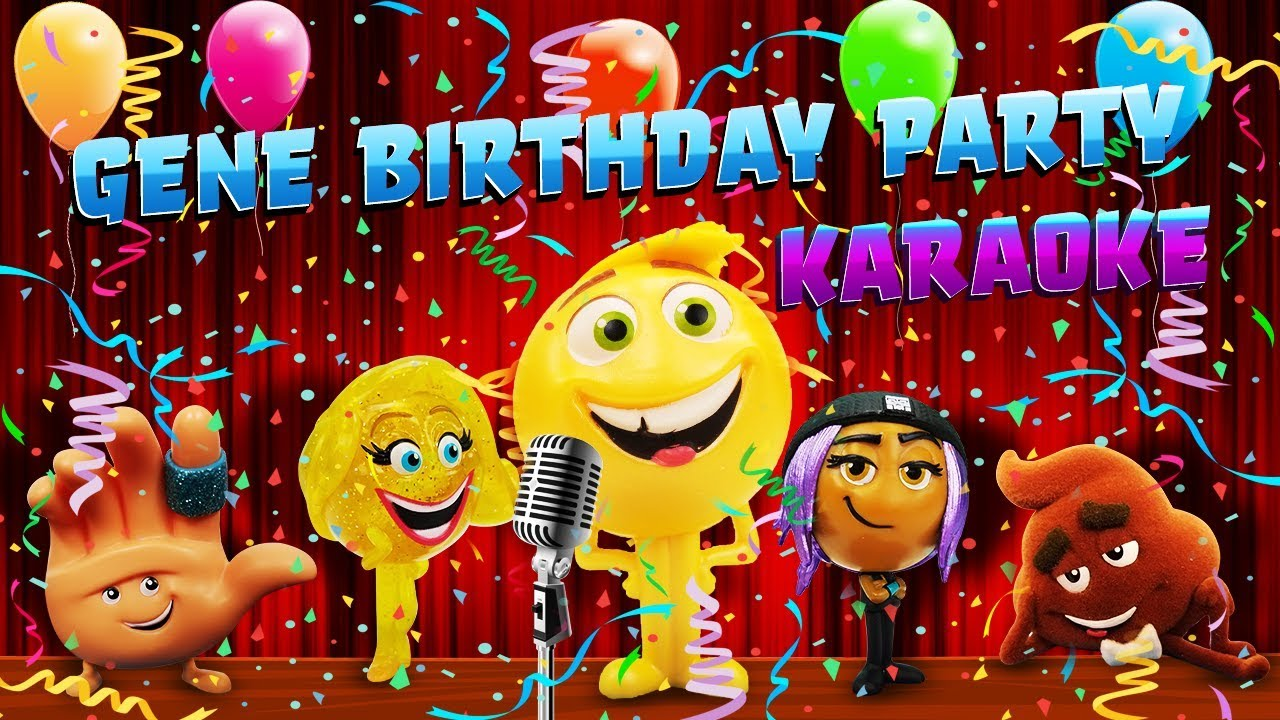 Emoji Movie Genes Birthday Karaoke Singing Competition Gene Smiler Hi 5 Jailbreak Party